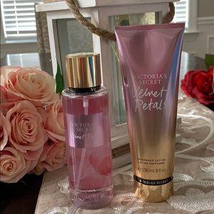 Victoria's Secret  lotion & mist velvet petals